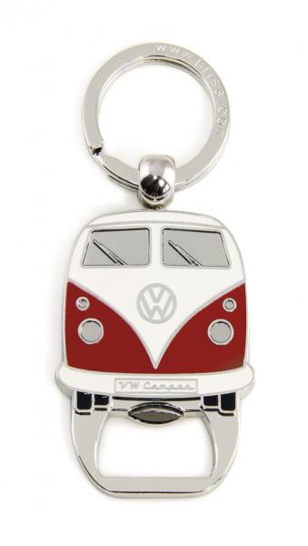 VW Bulli T1 Schlüsselanhänger mit Flaschenöffner rot