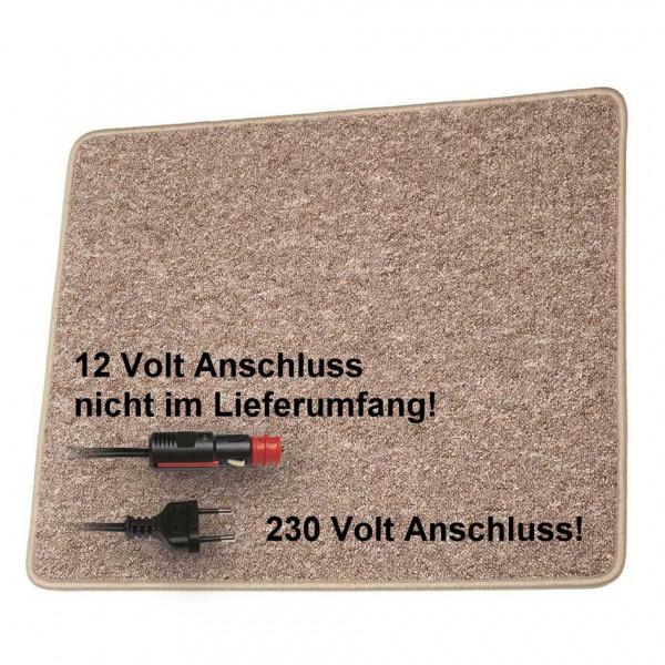 Pro Car Heizteppich 60 x 40 cm braun 230 Volt / 30 Watt
