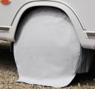 Radschutzhülle für Reisemobile 15 Zoll hellgrau