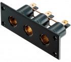 Pro Car Einbau-Dreifach-Steckdose 12-24 Volt
