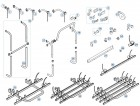 Steckhülsen-Verbindung Holm/Tragrahmen links