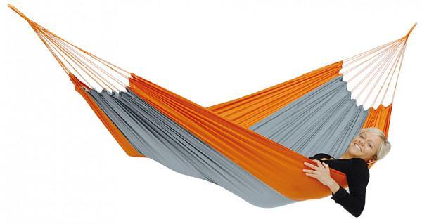Amazonas Leichthängematte Silk Traveller techno orange-grau