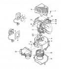 Spaltpolmotor 230 V für TN3 Ersatzteil für Trumavent Gebläse