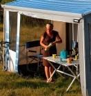 Safari-Residence G2 Vorderteil Höhe 1,85m Alaska-Grau