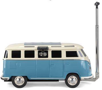 VW T1 Bus Fahrbare Kühlbox blau