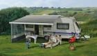 Dometic-Markise PerfectRoof PR 2500 weiß mit Motor 5,5 x 2,75 m Grau