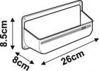 Fiamma Staubehälter weiß 8 x 26 x 8,5 cm