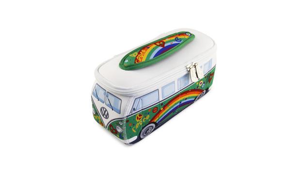 VW Bulli T1 3D Neopren Mäppchen grün