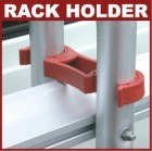 Sicherheitsklemmhalterung Rack Holder grau Carry Bike