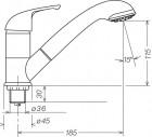 Einhebelmischer Carino mit 160 mm Auslauf