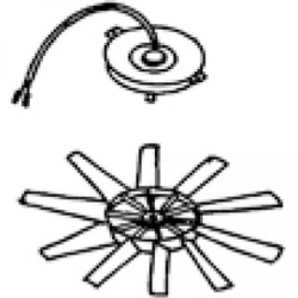 Motor mit Rotor Omnivent 12V