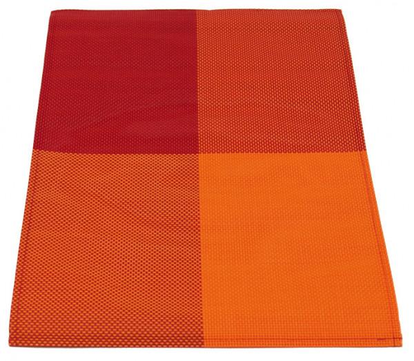 Camping Platzdeckchen 2er Set Orange Rot