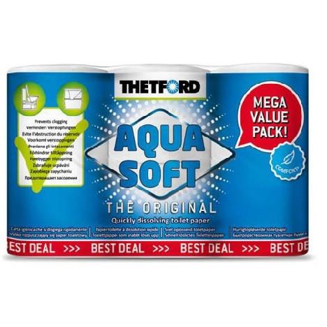 Toilettenpapier Aqua Soft 6 Rollen