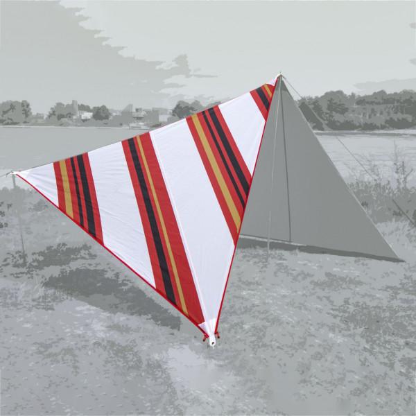 Bent Sonnensegel Canvas Oriental stripe white