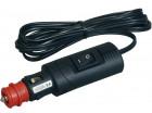 Procar Winkel Sicherheitsstecker 12-24 Volt Flachleitung 2m
