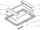 Ersatzteile für HEKI 1 - Grundrahmen ohne Anbauteile grau