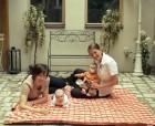 Amazonas Picknickdecke Molly orange 175 x 135 cm
