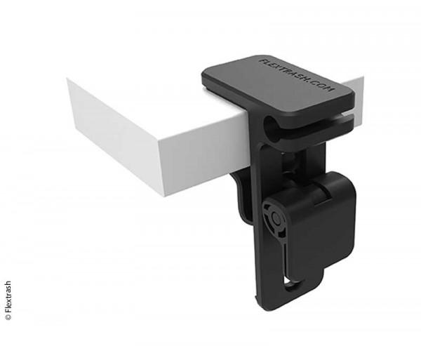 Flextrash Mülleimer Tischhalter black für Tische bis 4 cm