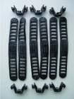 Bandhalterung Gummi für Thule Omnibike Fahrradträger V ´03, schwarz, 6 Stück