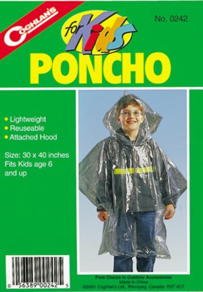 Coghlans Notfall-Poncho für Kinder transparent