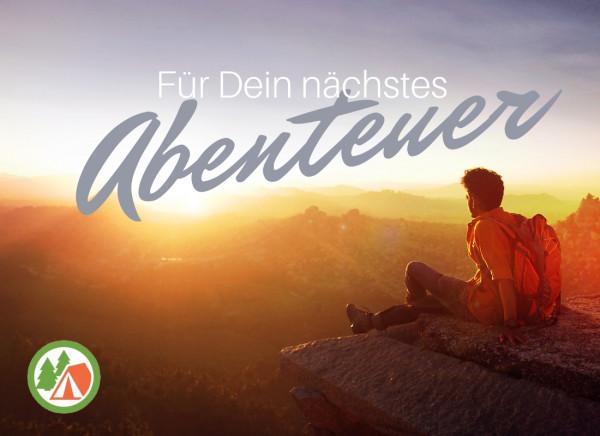 Geschenkgutschein Abenteuer Sunset zum Ausdrucken