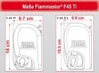Fiammastore F45 Ti L 450 de Luxe Grey Gehäuse Titanium