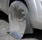 Radschutzhülle mit Sonnenreflektion für 1-Achs-Wohnwagen