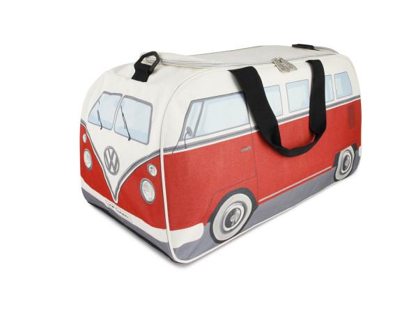 VW Bulli T1 Sporttasche klein rot beige