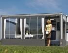 Wigo Vorderwand für Rolli Premium 2,5 m Grau/Silber