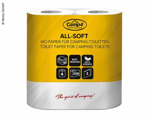 Camp4 Toilettenpapier 2-lagig 4 Rollen