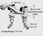 Messing-Mischbatterie Carletta weiß