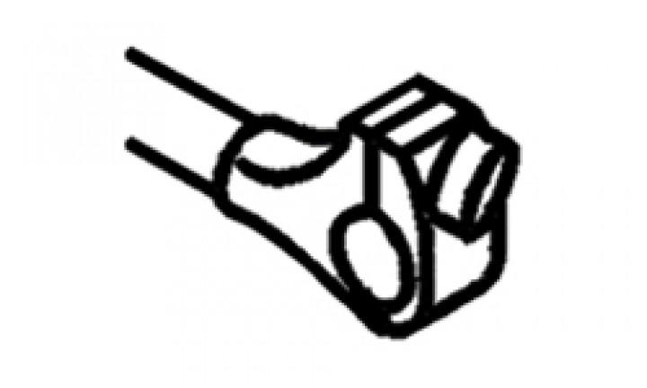 Kralle für Abstandshalter - Kralle mit Stellschraube für Abstandshalter