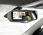 Funk-Rückfahr-Kamera-Set mit Display im Rückspiegel 3,5 Zoll