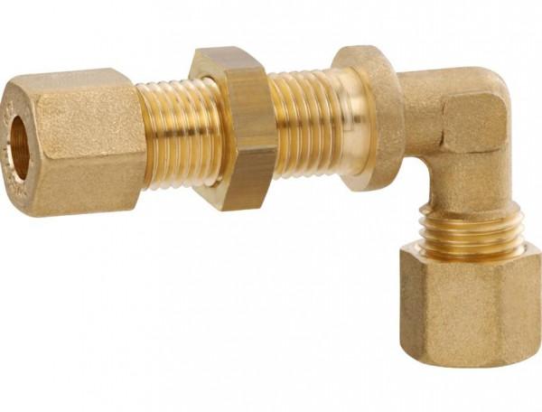 GOK Schottverschraubung Messing 8 mm Winkel