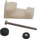 Befestigungs-Set für Cramer-Einbaukocher, -Spülen und -Kombinationen, emailliert, schwarz, 4 Stück
