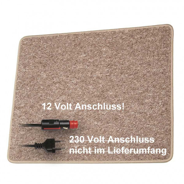 Pro Car Heizteppich 60 x 40 cm braun 12 Volt / 30 Watt