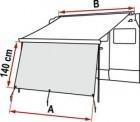 Fiamma Markise F45 Vorderwand Blocker 350 cm