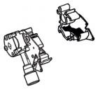 Endplatte Thule|Omnistor 6900 - Endplatte links inkl. Kurbelwerk Thule|Omnistor 6502 / 6802 / 6900