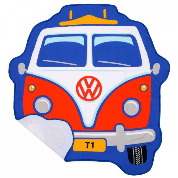 VW Bulli T1 Kinder Strandtuch Front rot