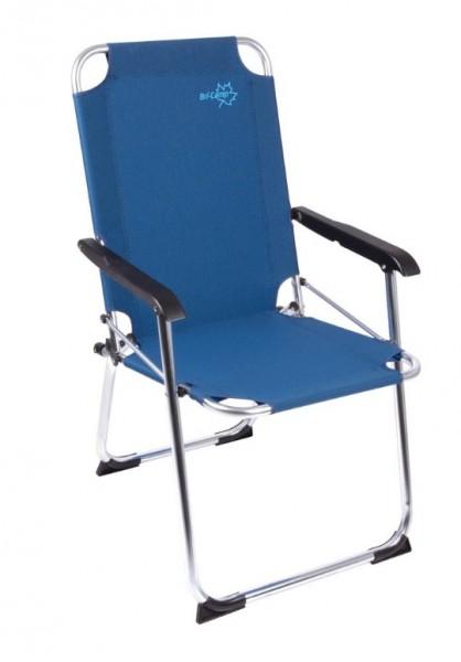 Alu Camping Klappstuhl blau