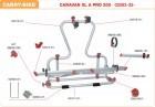 Carry-Bike Rail Quick Schiene 45 cm rot XLA 300 Pro XL A