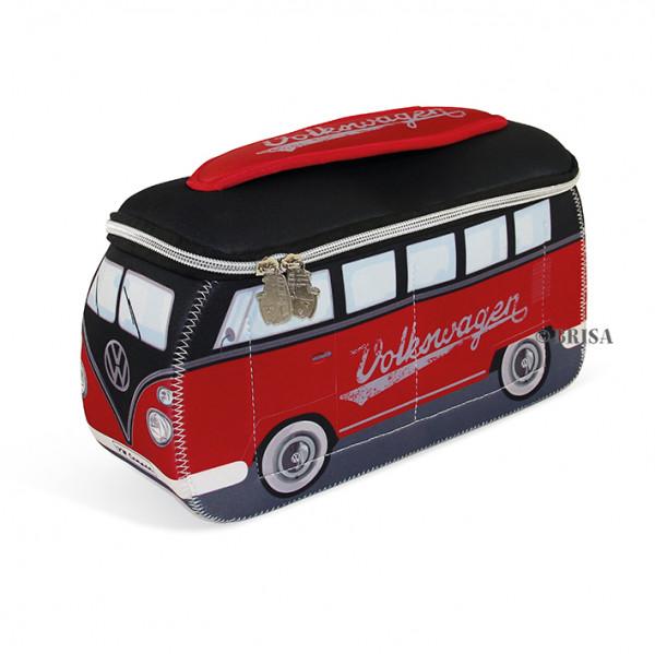 VW Bulli T1 Neopren 3D Universaltasche rot schwarz