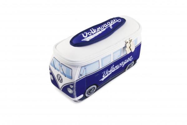 VW Bulli T1 3D Neopren Mäppchen blau