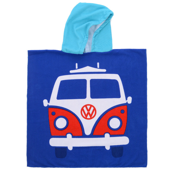 VW Bulli T1 Kinder Bade-Poncho blau