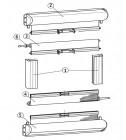 Teilesatz grau für Mini-Doppelkassettenrollo 1302